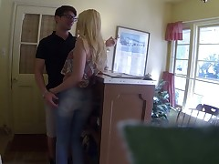 Hidden camera video featuring nasty cookie Samantha Rone who is fucked by reception guy