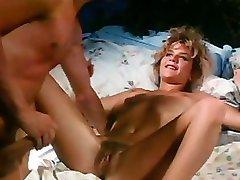 Sexy vintage pornstar Ginger Lynn drilled hard