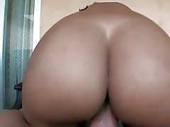 Big ass ebony playgirl with pierced nipples gets her beaver rammed