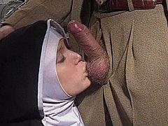 Shy European Nun receives her ass screwed good and hard
