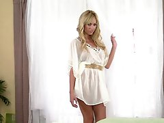 Astonishingly Gorgeous Blonde Awesome In Solo Masturbation Vid