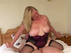 Nothing is compare to this luscious old school granny slut when it comes to...