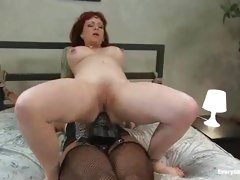 Sexy bitch that can't live without anal fuck herself with a large black strap-on