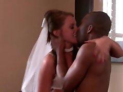 Slutty Bride Has Hardcore Sex With A Big Dark Cock