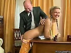 Old teacher oral internal ejaculation