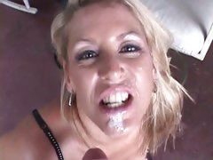 Alluring Chelsea Zinn acquires her face splattered with cum