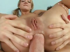 Naughty bitch Amy Brooke acquires her constricted ass packed with thick 10-Pounder and fucked