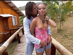 Sonia Carter Getting Fucked Outdoors With Her Pants On