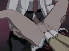 Anime whore getting a giant cock rammed up her tiny wet hole
