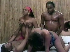 These two nasty ebony sluts are really horny and they just cant help...