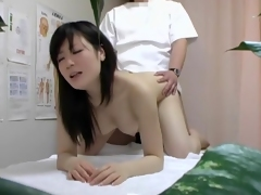Masseur taking of Asian ecumenical panty and massages her cunt dvd 12