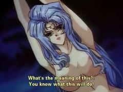 Demon dominates and fucks tied manga girls