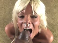 Horny Jordan Blue gets her face covered with jock cream