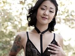 Exotic hottie Saya Broadcast deepthroating massive dick balls deep
