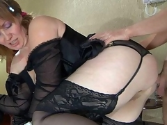 Stacked mama bares her mellow boobs and a-hole cheeks desirous for some recent meat