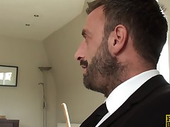 Bigtitted british sub pounded hard and rough