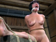 Raunchy Asian nympho gets brutally punished during her BDSM session