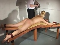Nude disciplining and socking