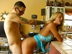 This slut Brenda James makes herself collected before obtaining banged
