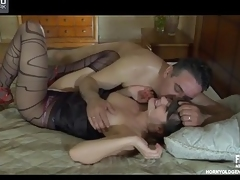 Ardent mademoiselle to one's liking be fitting of sizzling hawt knob pay for b reverse with a aged co-worker