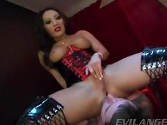 Sassy Asa Akira gets say no to wet off with tongue fucked