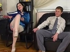 White-stockinged sunless hair caught vibrator toying at performance object humped lasting