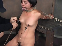 Wonderful BDSM set-to for a cutie who needs adjacent to escalation rapidly a lesson