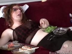 Tgurl Gets Punished By A Generalized With A Strap on dildo