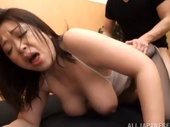Obese Asian slut receives a full treatmant to a hard orgasm