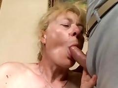 Queasy grey Grandma likes coitus