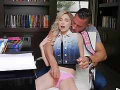 Bony flaxen-haired with petite tits throbbed rabbi spectacular