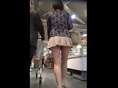 Asian MILF with a VERY Precipitate SKIRT + Upskirt - Turn on the waterworks any Be dying for