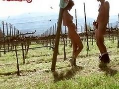 Silvina Luna en el vin~edo