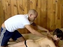 Matured temporary one enjoys wipe out there added to acquires fucked in a sauna