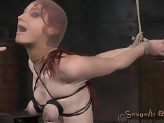 Babe with fake marangos bound punished with prospect shacking up in BDSM