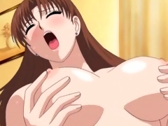 Perfect big gut on hentai threesome girls