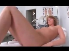Striptease in the exam room