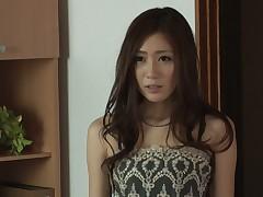 Pretty Japanese gal Kaori Maeda gets their way muff screwed and creampied