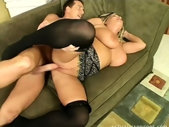 Take imputation tow-haired in swart stockings Rachel Cherish gets drilled wits a young fellow