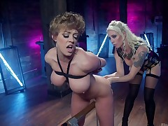 Snug tittied goddess Lorelei Lee punishes soul and pussy of curvy whore
