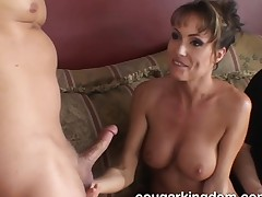 Delightful housewife about beamy hooters acquires will not hear of miserly ass drilled hard