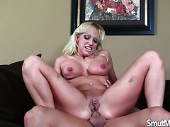 Stacked blonde cougar has a passion be beneficial to young meat and guestimated anal invasion