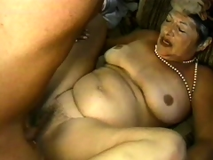Left alone granny is breathless down acquire drilled firm all round doggy arrogance