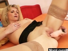 Low-spirited solo full-grown relating to nylons has toy sexual congress