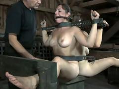 2 slutty bimbos gets totally ridden in this BDSM clip