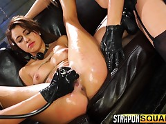 Marina Angel, Esmi Lee and Abella Danger unleash their bondage wants
