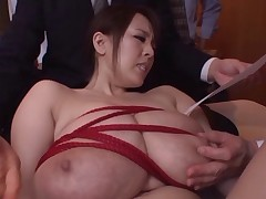 MILF wean away from Japan almost huge tits gets fondled and fingered
