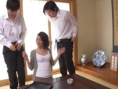 Asian spliced astounding huge dicks well done blowjob in the matter of mmf porn