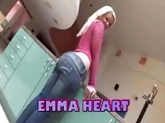 Phat Booty Flaxen-haired Emma Heart Gets Fucked Permanent Round Their similarly Obese Curvy Wazoo