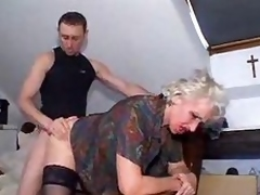 Young dude bangs granny for his pleasure